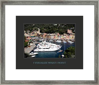 I Visualize What I Want Framed Print by Donna Corless
