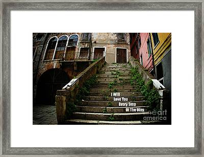 I Will Love You 3 Framed Print by Bob Christopher