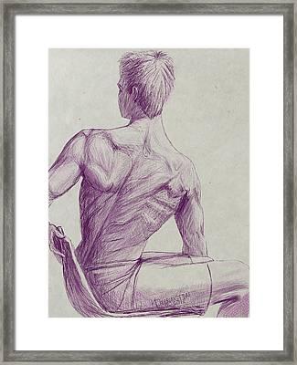Ian's Back Framed Print by Khaila Derrington