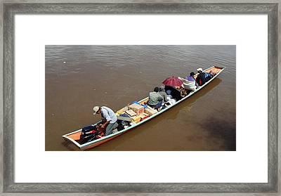 Iban Longboat Framed Print
