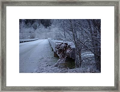 Ice Bridge Framed Print