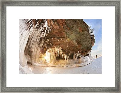 Ice Caves On Lake Superior Framed Print by Susan Dykstra