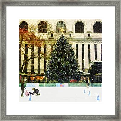 Ice Skating During The Holiday Season Framed Print by Nishanth Gopinathan