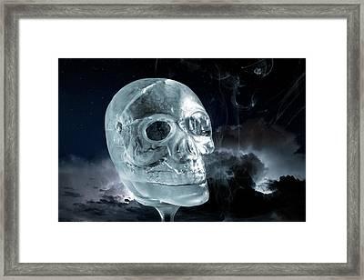 Ice Skullpture Framed Print