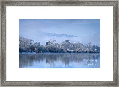 Icy Blue Framed Print by Idaho Scenic Images Linda Lantzy