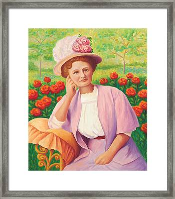 Ida In The Garden Framed Print