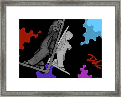 Framed Print featuring the digital art Idle Bookends by Tom Dickson