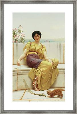 Idleness Framed Print by John William Godward