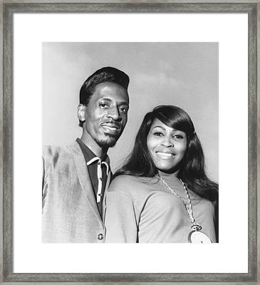 Ike And Tina Turner 1966 Framed Print by Chris Walter