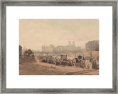 Ile De La Cite Framed Print by Richard Parkes Bonington