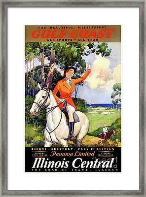 Illinois Mississippi Restored Vintage Poster Framed Print by Carsten Reisinger