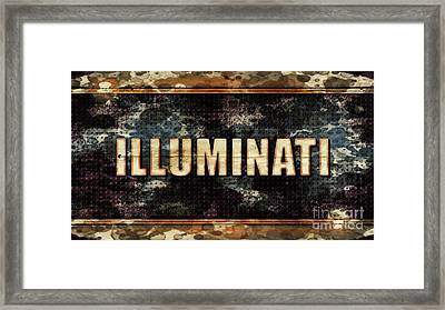 Illuminati Pop Art By Mary Bassett Framed Print