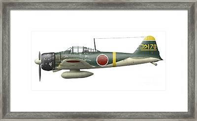 Illustration Of A Mitsubishi A6m2 Zero Framed Print by Inkworm