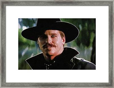 I'm Your Huckleberry Framed Print