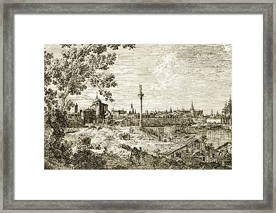 Imaginary View Of Padua Framed Print by Canaletto