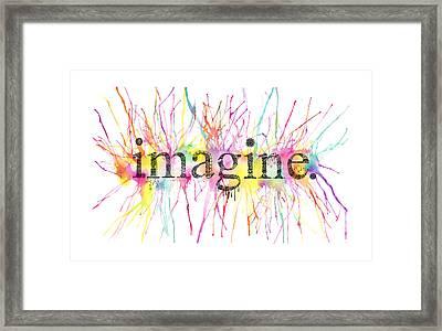 Imagine. Framed Print