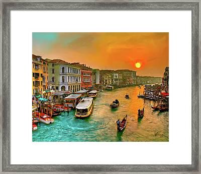 Imbarcando. Venezia Framed Print
