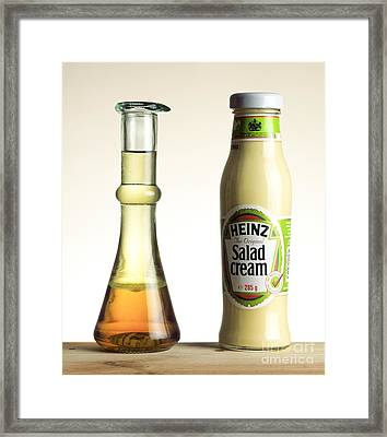 Immiscible Liquids Demonstration Framed Print by Martyn F. Chillmaid