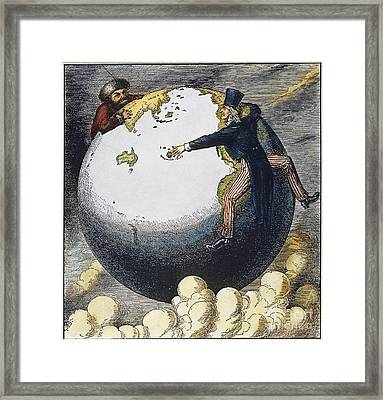 Imperialism Cartoon, 1876 Framed Print by Granger