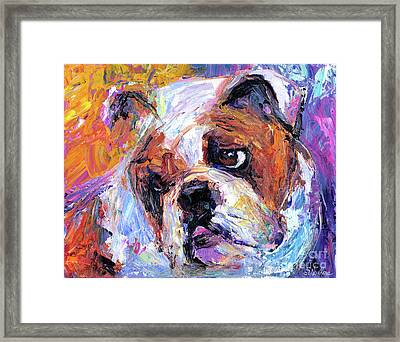 Impressionistic Bulldog Painting  Framed Print