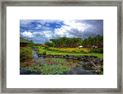 In Bali Framed Print by Charuhas Images