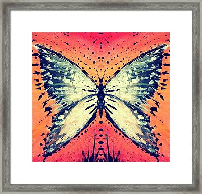 Framed Print featuring the painting In Flight by 'REA' Gallery
