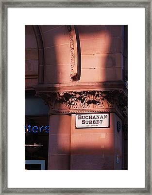 In Glasgow Framed Print