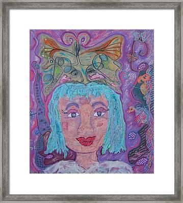 In Her Eyes Framed Print