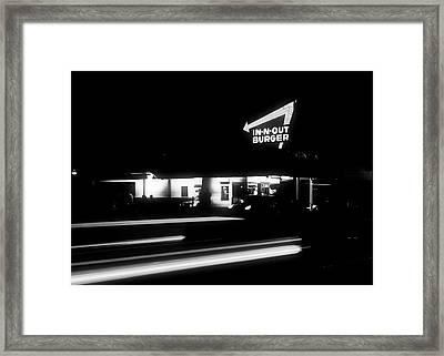 In - N - Out Burger Framed Print