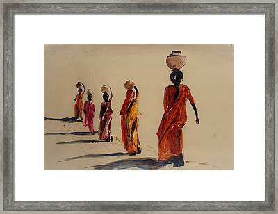 In Search Of Water. Framed Print