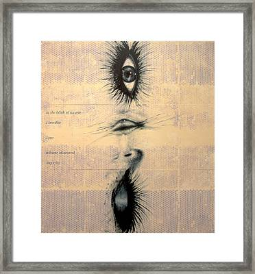 In The Blink Of An Eye Framed Print