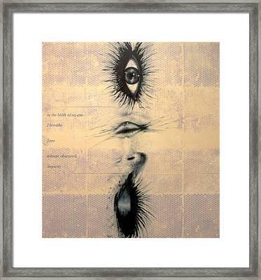 In The Blink Of An Eye Framed Print by Ingrid Van Amsterdam