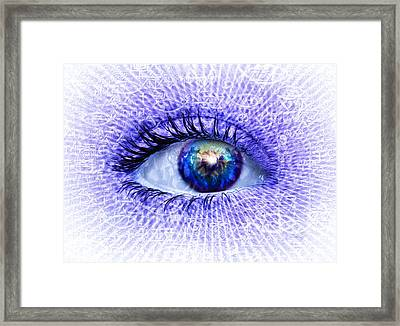 In The Eye Of The Beholder Framed Print by Robby Donaghey