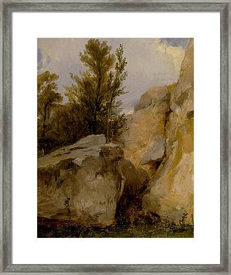 In The Forest Of Fontainebleau Framed Print by Richard Parkes Bonington
