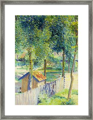 In The Garden Framed Print by Hippolyte Petitjean