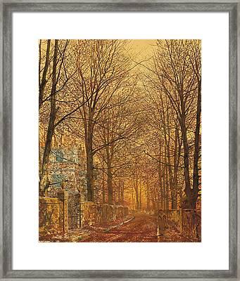 In The Golden Olden Time Framed Print by John Atkinson Grimshaw
