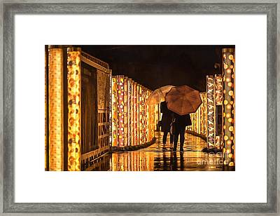 In The Kimono Forest Framed Print