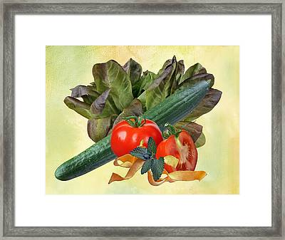 In The Kitchen 2 Framed Print by Manfred Lutzius