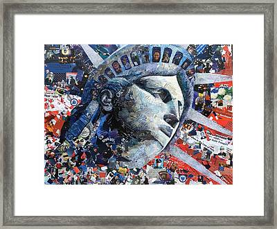 In The Line Of Duty Framed Print