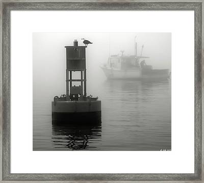 In The Midst Of A Fog Framed Print by Richard Bean