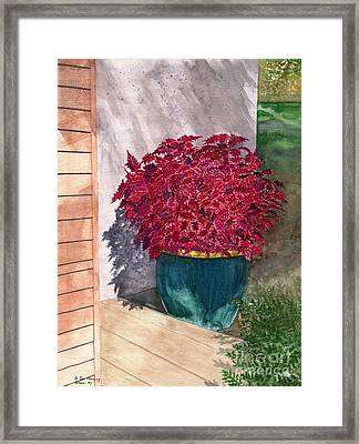Framed Print featuring the painting In The Morning by Melly Terpening