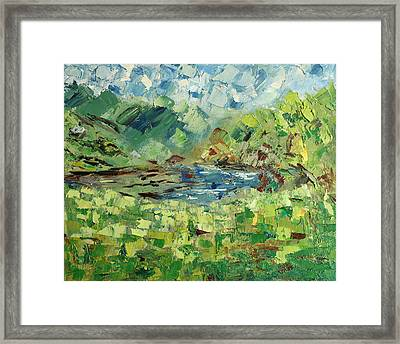 In The Mountains Framed Print by Natia Tsiklauri