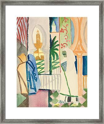 In The Temple Hall Framed Print by August Macke