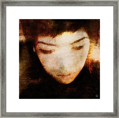 Framed Print featuring the digital art In Thoughts by Gun Legler