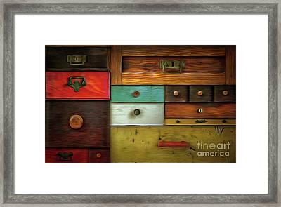 In Utter Secrecy - Various Drawers Framed Print by Michal Boubin
