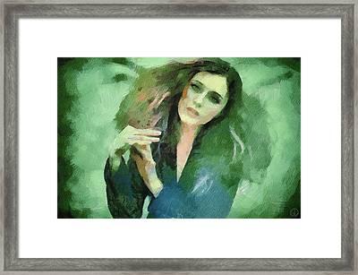 Framed Print featuring the digital art In Vain by Gun Legler