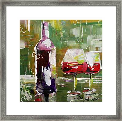 In Vino Veritas. Wine Collection Framed Print