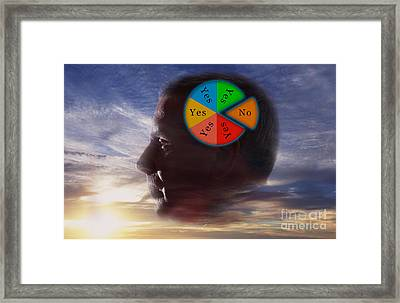 Indecision Yes Or No Framed Print by George Mattei