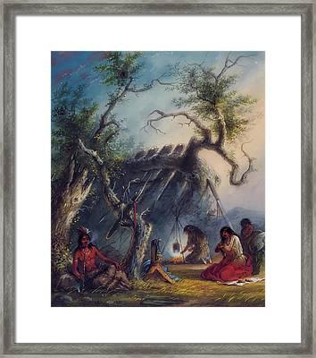 Indian Lodge Framed Print
