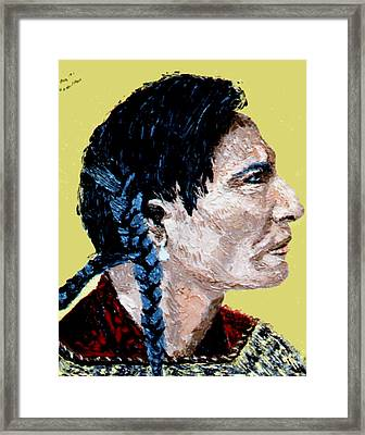 Indian Side Profile Framed Print by Stan Hamilton